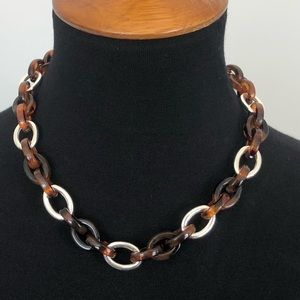 Jewelry - Tortoise shell and silver necklace